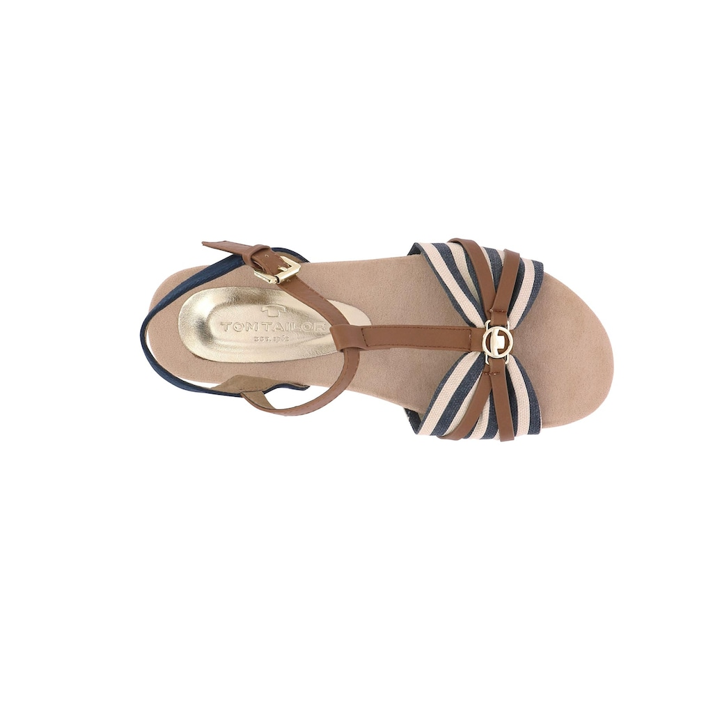 Tom Tailor Sandalette mit Zierknopf