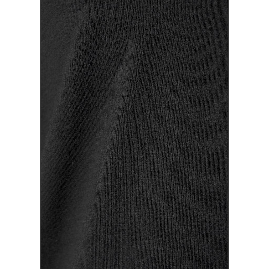 LASCANA T-Shirt, mit Spitzeneinsatz