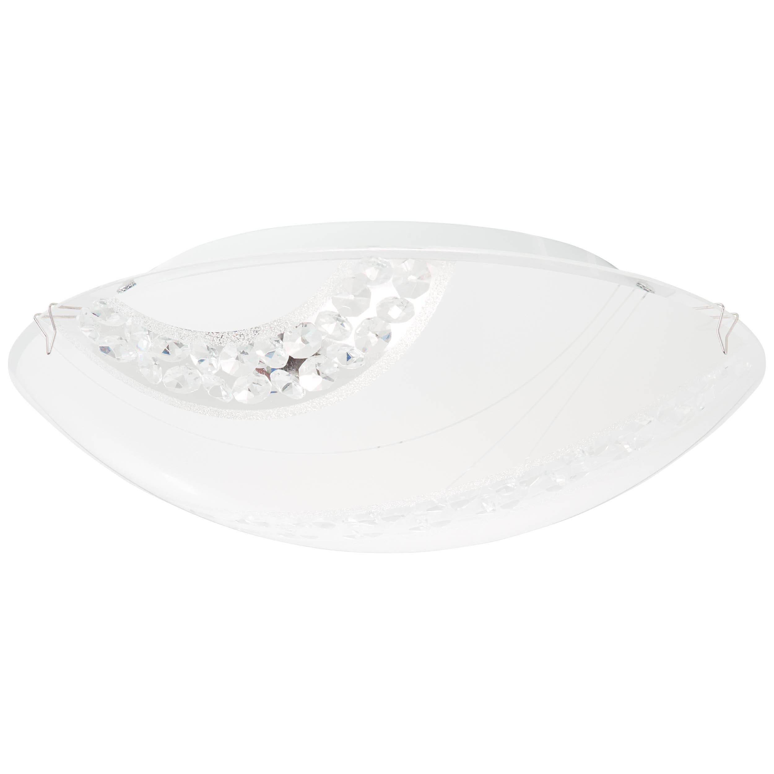 Brilliant Leuchten Pinola LED Wand- und Deckenleuchte 30cm weiß/transparent