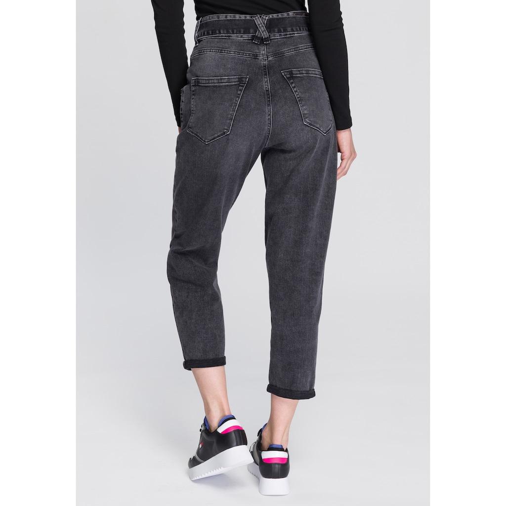 Herrlicher 7/8-Jeans »KABIRA CROPPED«, Slouchy-Jeans mit Denim-Bindeband