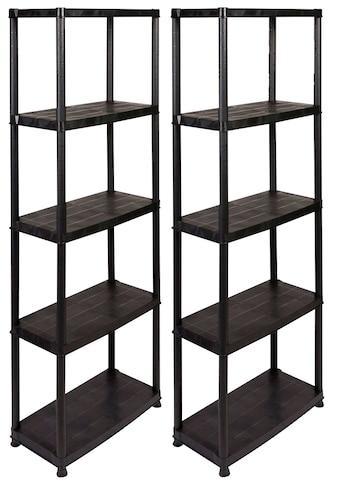 Kreher Schwerlastregal, (Set, 2 St.), B/T/H: 61x31x170 cm, 5 Böden, Kunststoff kaufen