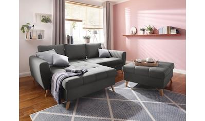 Home affaire Ecksofa »Penelope«, mit Longchair, feiner Steppung im Sitzbereich, lose... kaufen