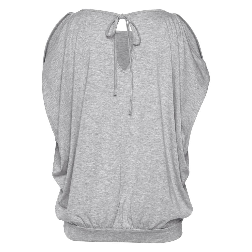 LASCANA Strandshirt, mit Pailetten