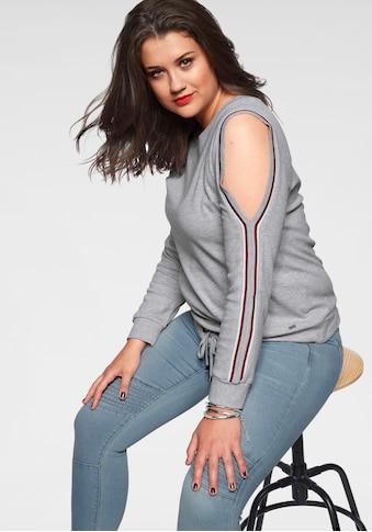 Arizona Sweatshirt »mit Cold Shoulder und Tunnelzug«, Mit Cold Shoulders kaufen
