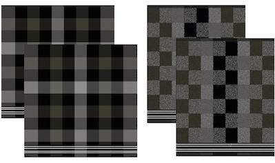 DDDDD Geschirrtuch »Feller«, (Set, 4 tlg., Combi-Set: bestehend aus 2x Küchentuch + 2x... kaufen