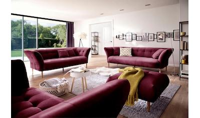 3C Candy Polstergarnitur »Trelleborg«, 2,5- und 3-Sitzer skandinavisches Design mit feiner Steppung und Holzfüßen kaufen
