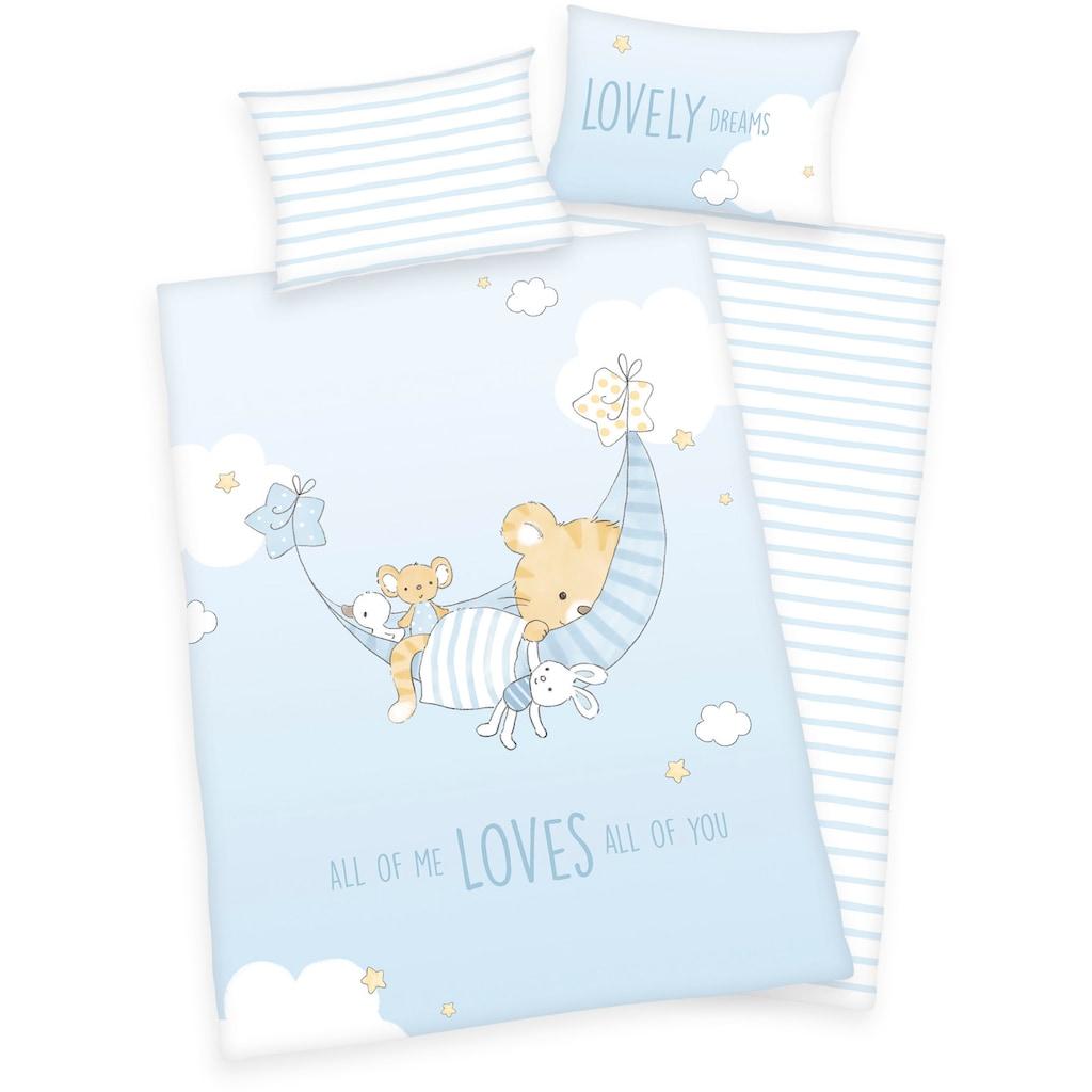 Baby Best Babybettwäsche »Little Tiger«, mit niedlichem Tiger-Motiv und Schriftzug