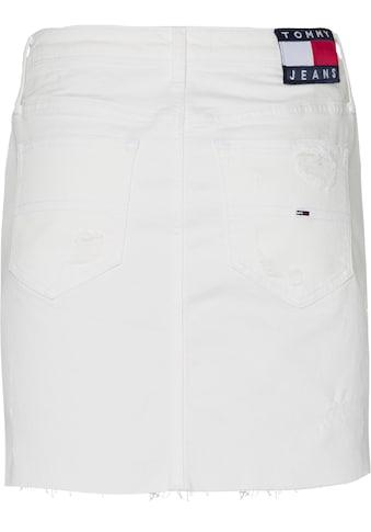 Tommy Jeans Jeansrock »SHORT DENIM SKIRT«, mit Destroyed-Stellen kaufen
