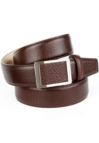 Anthoni Crown Ledergürtel, für Freizeithosen, mit teilbezogener Schließe kaufen