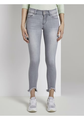 TOM TAILOR Skinny-fit-Jeans »Alexa Skinny Jeans mit Fransen« kaufen