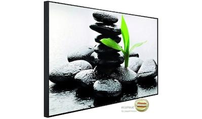 PAPERMOON Infrarotheizung »EcoHeat  -  Zen Basalt Steine«, Aluminium, 900 W, 74 x 120 cm, mit Rahmen kaufen