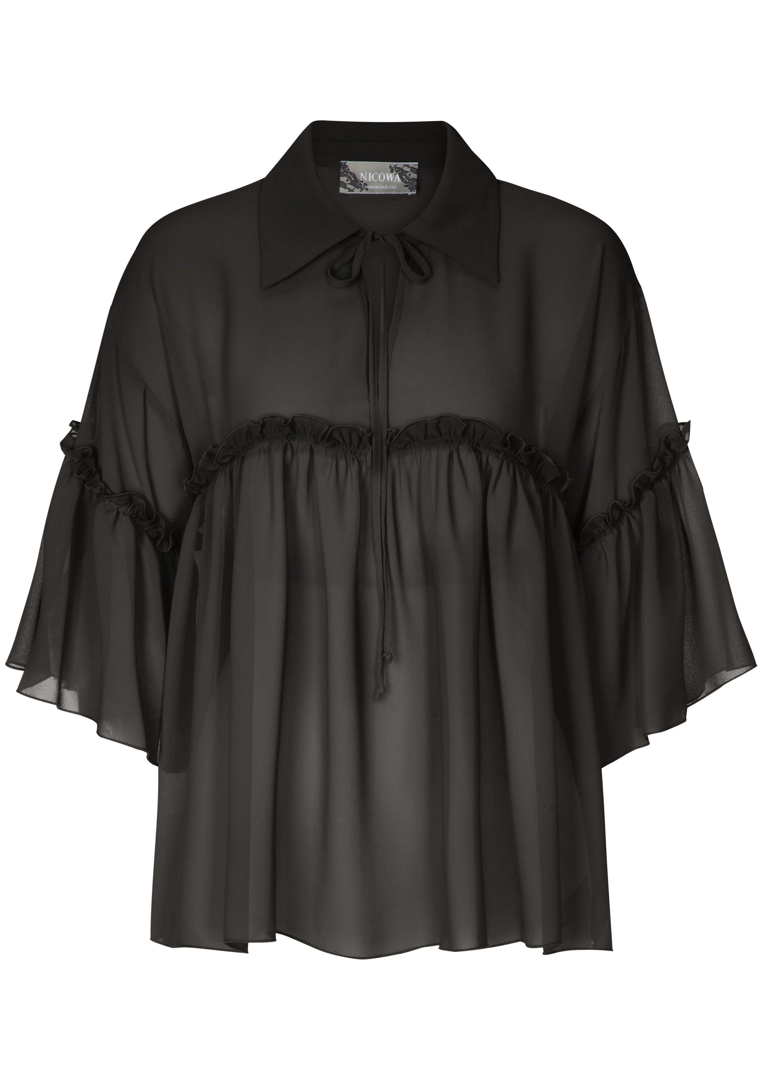 Nicowa Bezaubernde Bluse JULE mit stilvollen Rüschen-Details
