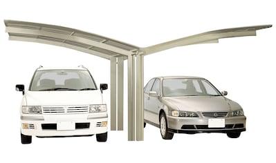Ximax Doppelcarport »Portoforte Typ 60 Y-Edelstahl-Look«, Aluminium, 527 cm,... kaufen