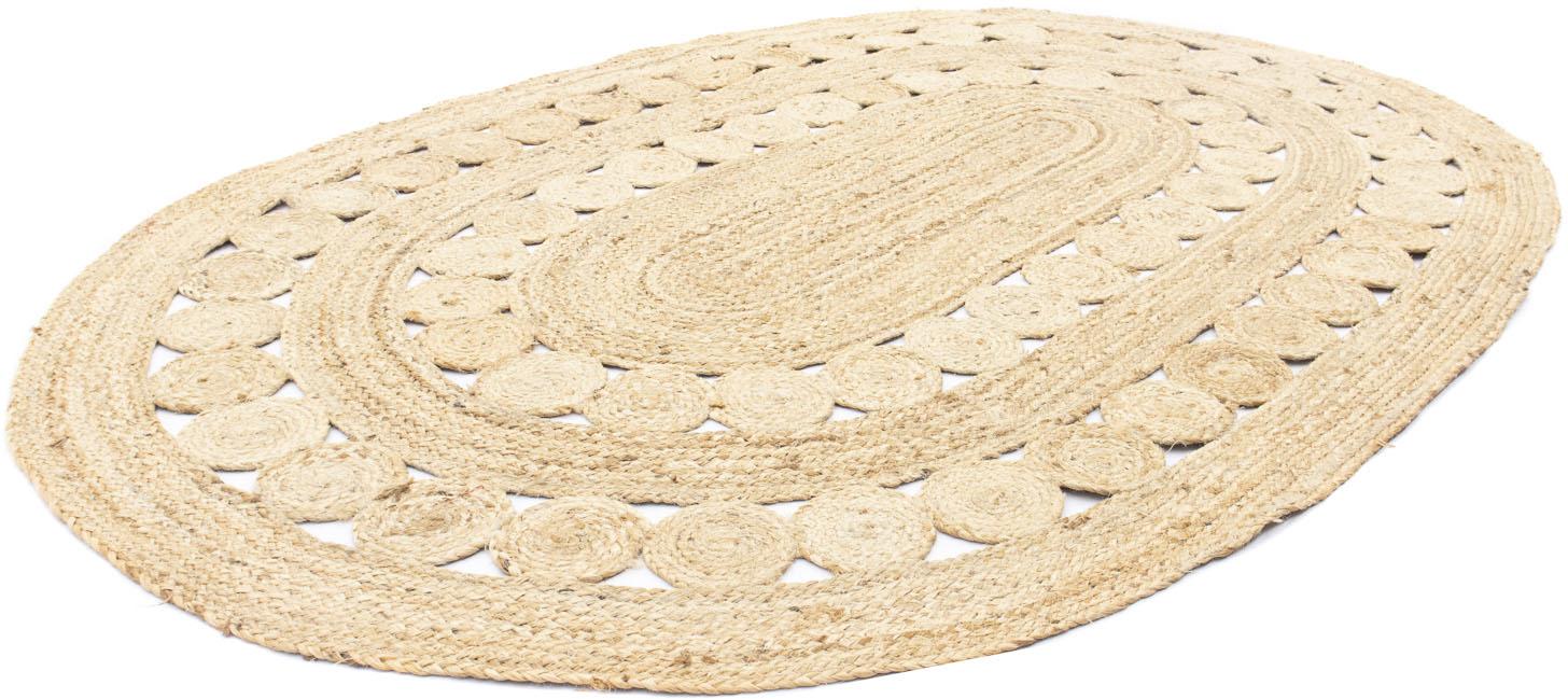 morgenland Teppich Sisalteppich Darcia, oval, 6 mm Höhe beige Esszimmerteppiche Teppiche nach Räumen