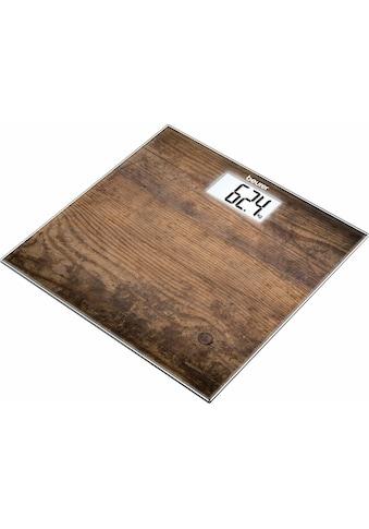 BEURER Personenwaage »GS 203«, Trittfläche Fotomotiv in Holzoptik kaufen
