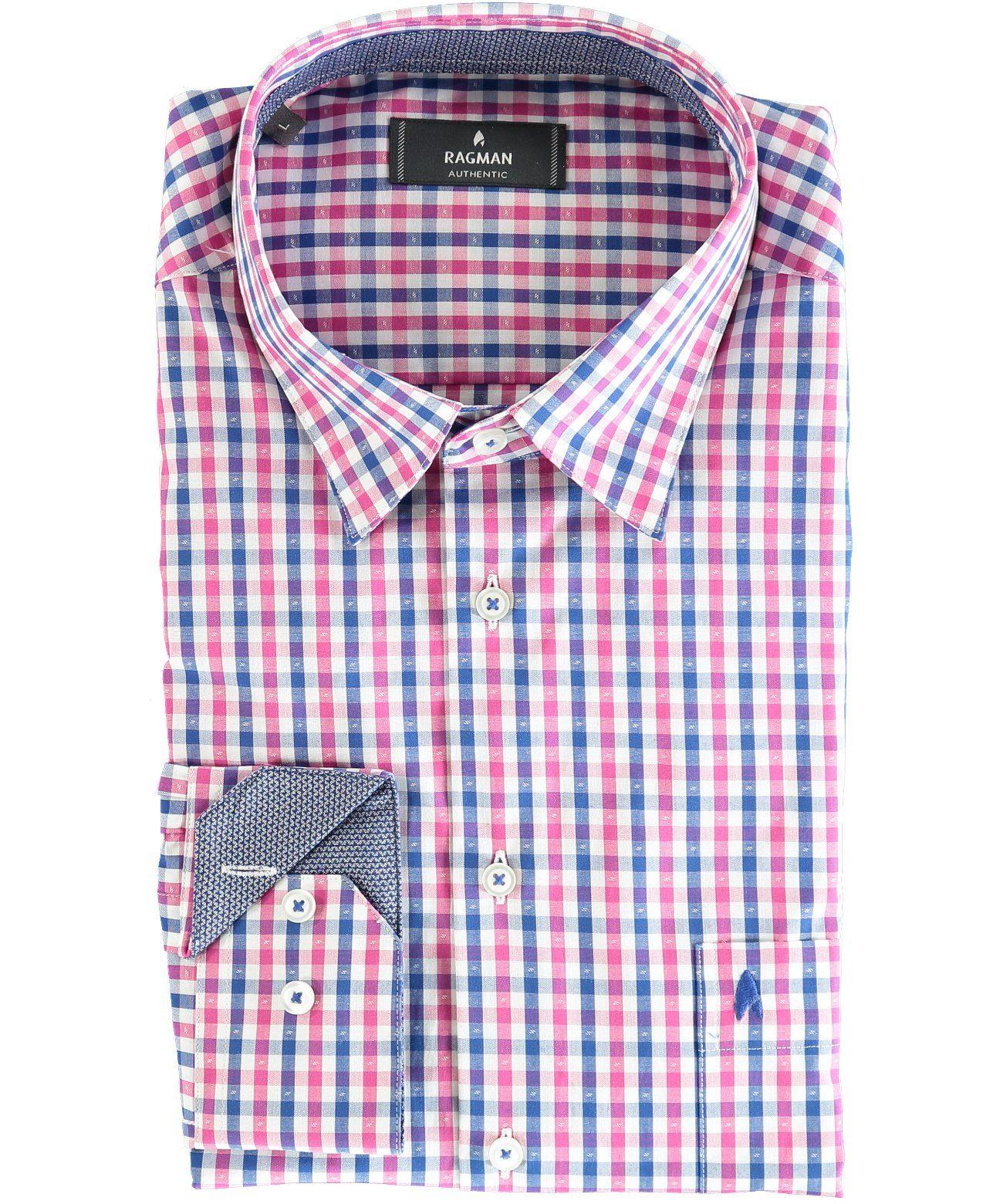 RAGMAN Henleyshirt | Bekleidung > Hemden > Freizeithemden | Rot | RAGMAN