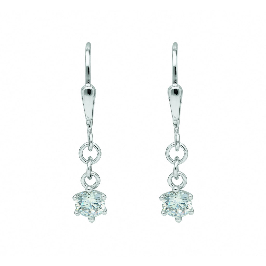 Adelia´s Paar Ohrhänger »333 Weißgold Ohrringe / Ohrhänger mit Zirkonia«, Goldschmuck für Damen
