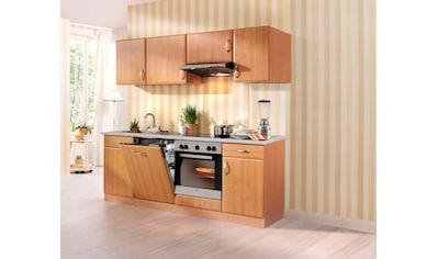 wiho Küchen Küchenzeile »Prag«, mit E-Geräten, Breite 220 cm kaufen