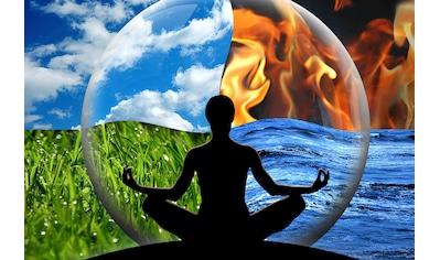 Papermoon Fototapete »Wasser Feuer Erde Luft«, Vliestapete, hochwertiger Digitaldruck kaufen