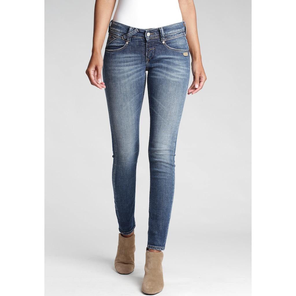 GANG Skinny-fit-Jeans »Nena«, mit gekreuzten Gürtelschlaufen links vorne