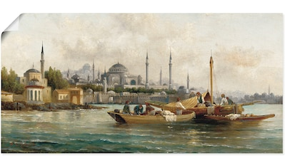 Artland Wandbild »Handelsschiffe vor Hagia Sophia«, Boote & Schiffe, (1 St.), in... kaufen