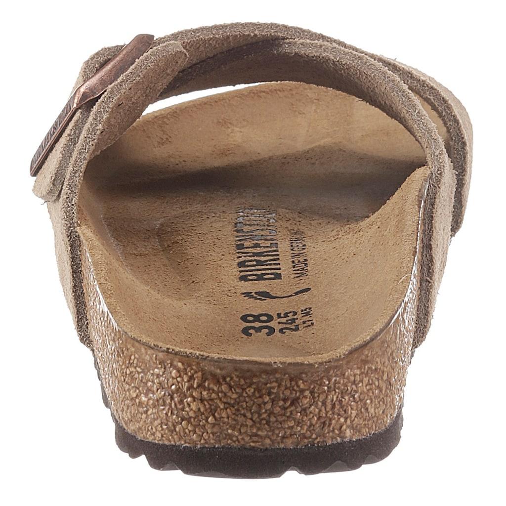 Birkenstock Pantolette »Siena«, aus Veloursleder, schmale Schuhweite