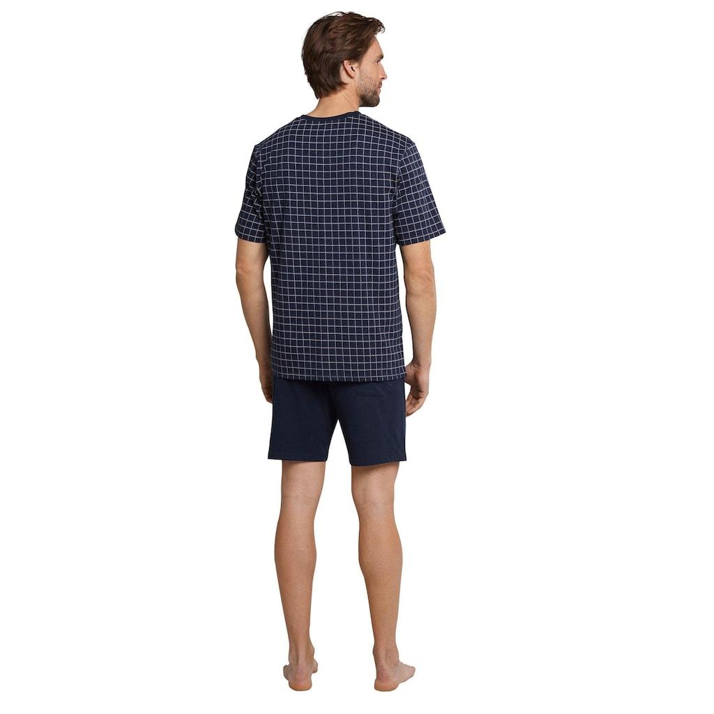 Schiesser Shorty, (Set), karierter Pyjama kurz