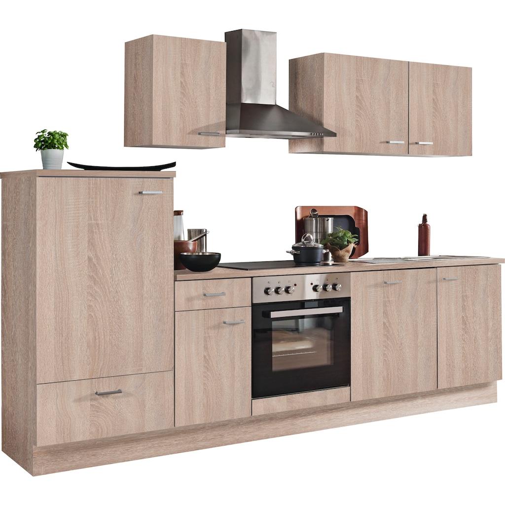 Menke Küchen Küchenzeile »Classic«, Küchenzeile mit E-Geräten, Breite 270 cm