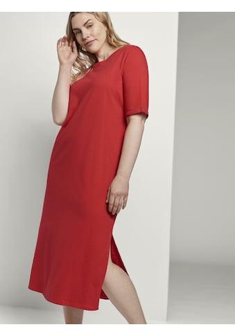 TOM TAILOR MY TRUE ME Sommerkleid »Curvy - Fließendes Basic Midi-Kleid« kaufen