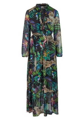 Nicowa Maxi-Kleid mit tropischem Allover-Print - ANIWA kaufen
