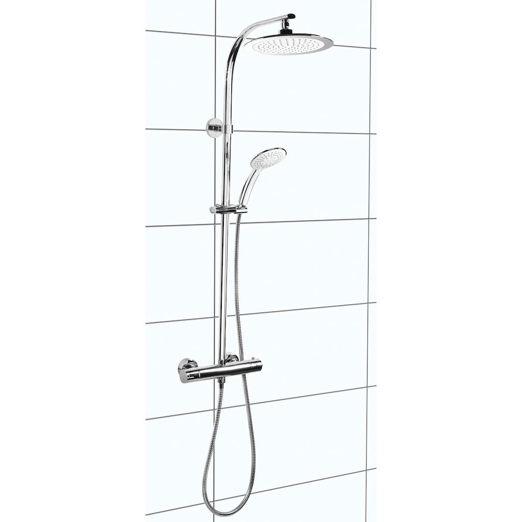 CORNAT Duschsystem »STYLE«, mit Thermostat, Handbrause und Antikalk-Noppen
