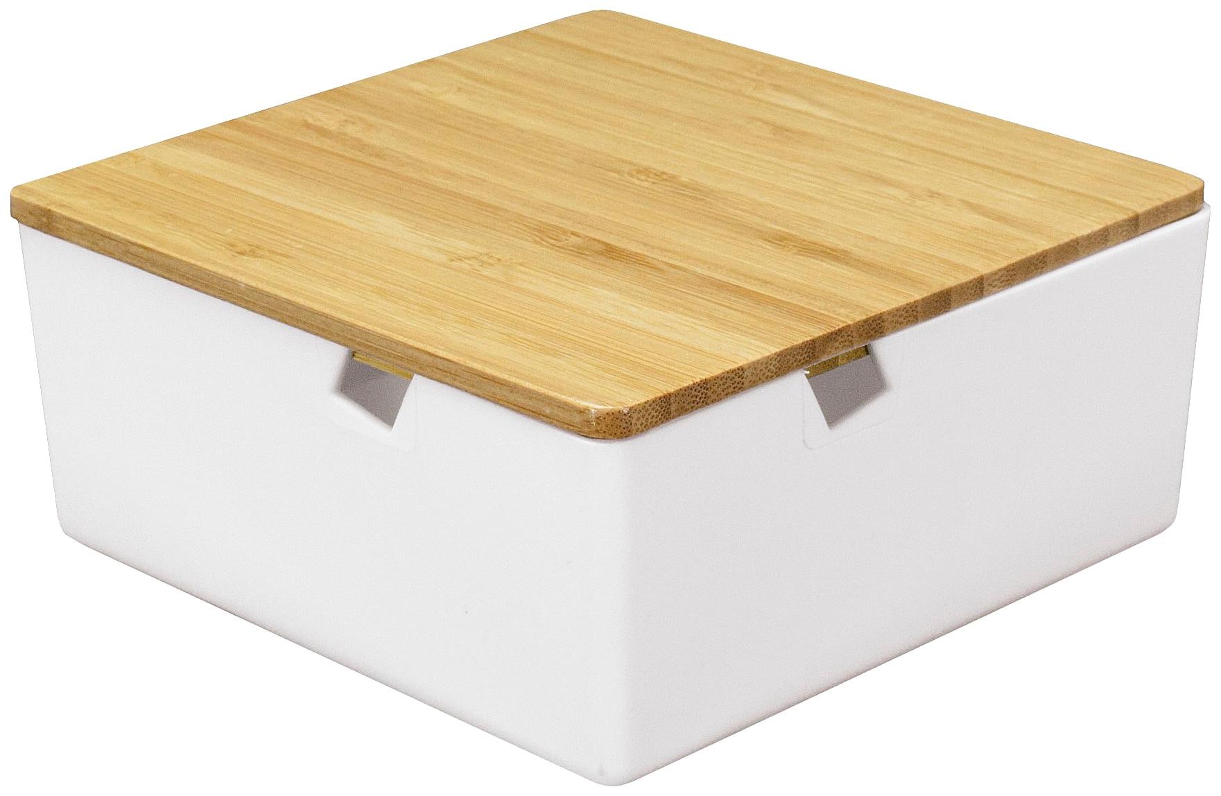 Kleine Wolke Aufbewahrungsbox Timber Box, weiß, Bambus weiß Kleideraufbewahrung Aufbewahrung Ordnung Wohnaccessoires
