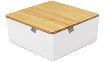 Kleine Wolke Aufbewahrungsbox »Timber Box«, weiß, Bambus kaufen