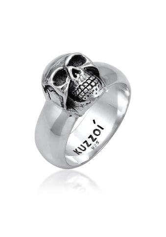 Kuzzoi Silberring »Herren Siegelring Totenkopf Oxidiert 925er Silber« kaufen