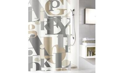 KLEINE WOLKE Duschvorhang »Letter«, Breite 180 cm kaufen