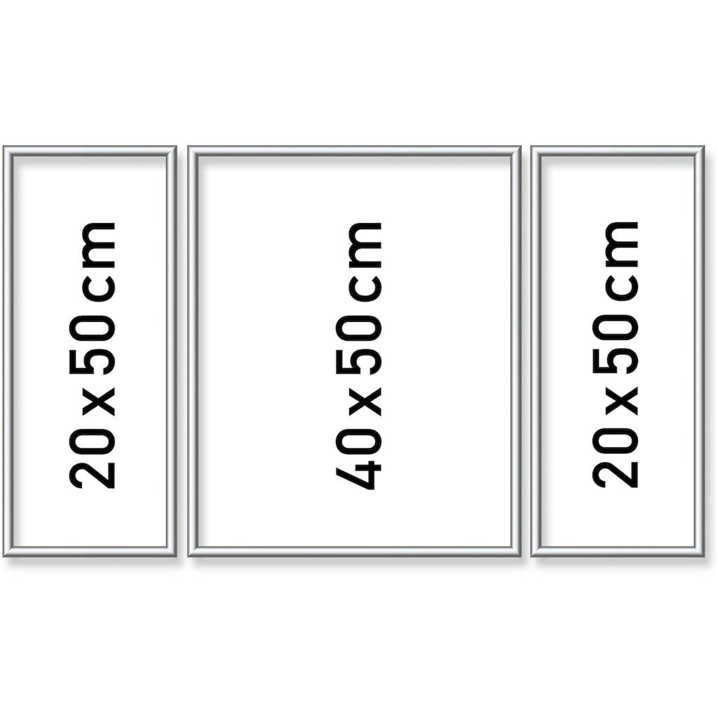 Schipper Bilderrahmen »Malen nach Zahlen, Triptychon 80x50 cm, silberfarben«, (Set, 3 St.), Made in Germany