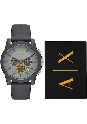 ARMANI EXCHANGE Chronograph »AX7123«, (2 tlg., mit zusätzlicher Kartenhülle) kaufen