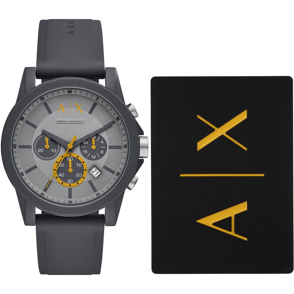ARMANI EXCHANGE Chronograph »AX7123«, (2 tlg., mit zusätzlicher Kartenhülle)
