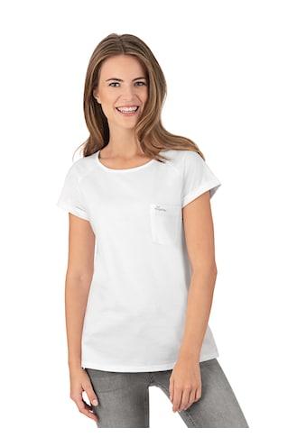 Trigema Shirt mit Brusttasche aus Biobaumwolle kaufen