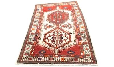 morgenland Wollteppich »Hamadan Teppich handgeknüpft rot«, rechteckig, 8 mm Höhe,... kaufen