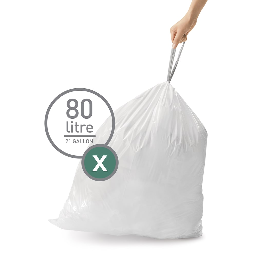 simplehuman Müllbeutel »passgenaue Müllbeutel Nachfüllpack code X«