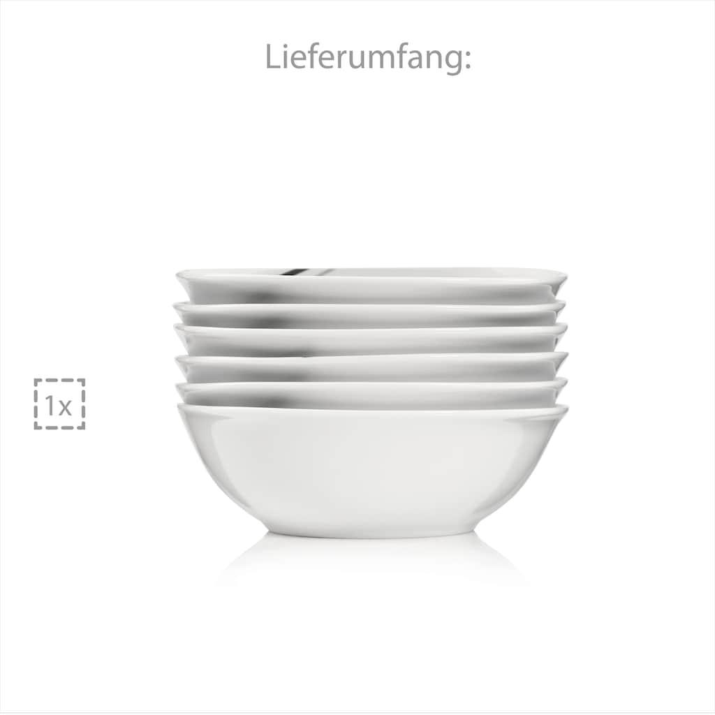 SÄNGER Frühstücks-Set »Bilgola Black Lines«, (6 tlg., Frühstücks-Set Bilgola Black Lines 6 teilig)
