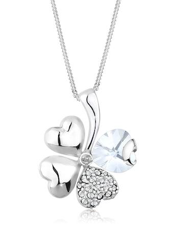 Elli Collierkettchen »Kleeblatt Herz Kristalle Silber« kaufen
