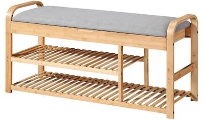 WELLTIME Badhocker »Pacific«, mit Ablage, Sitzbank, Bambus, Breite 100cm kaufen