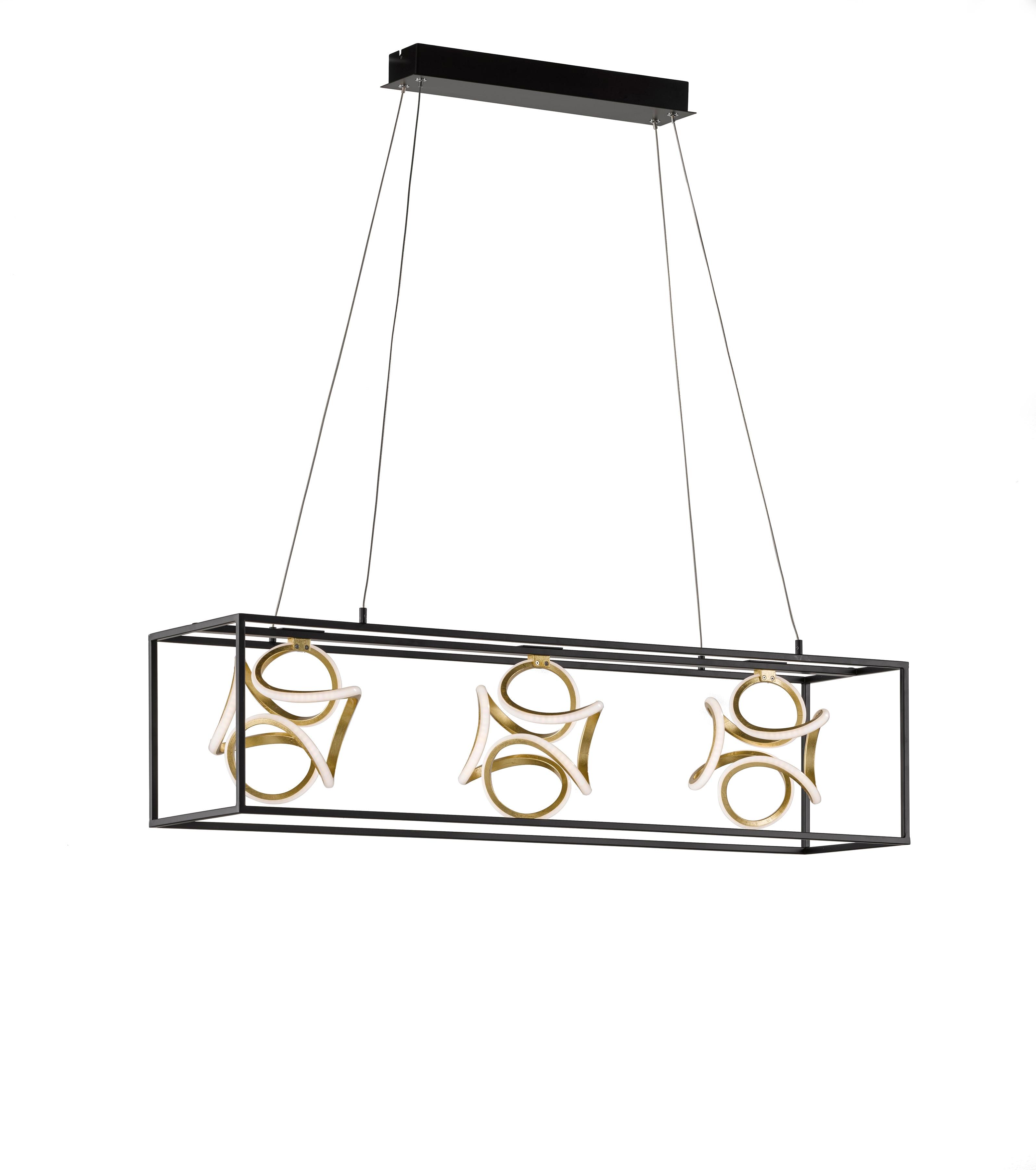 FISCHER & HONSEL LED-Hängeleuchte Gesa, LED-Board, 1 St., LED Pendelleuchte, LED Pendellampe