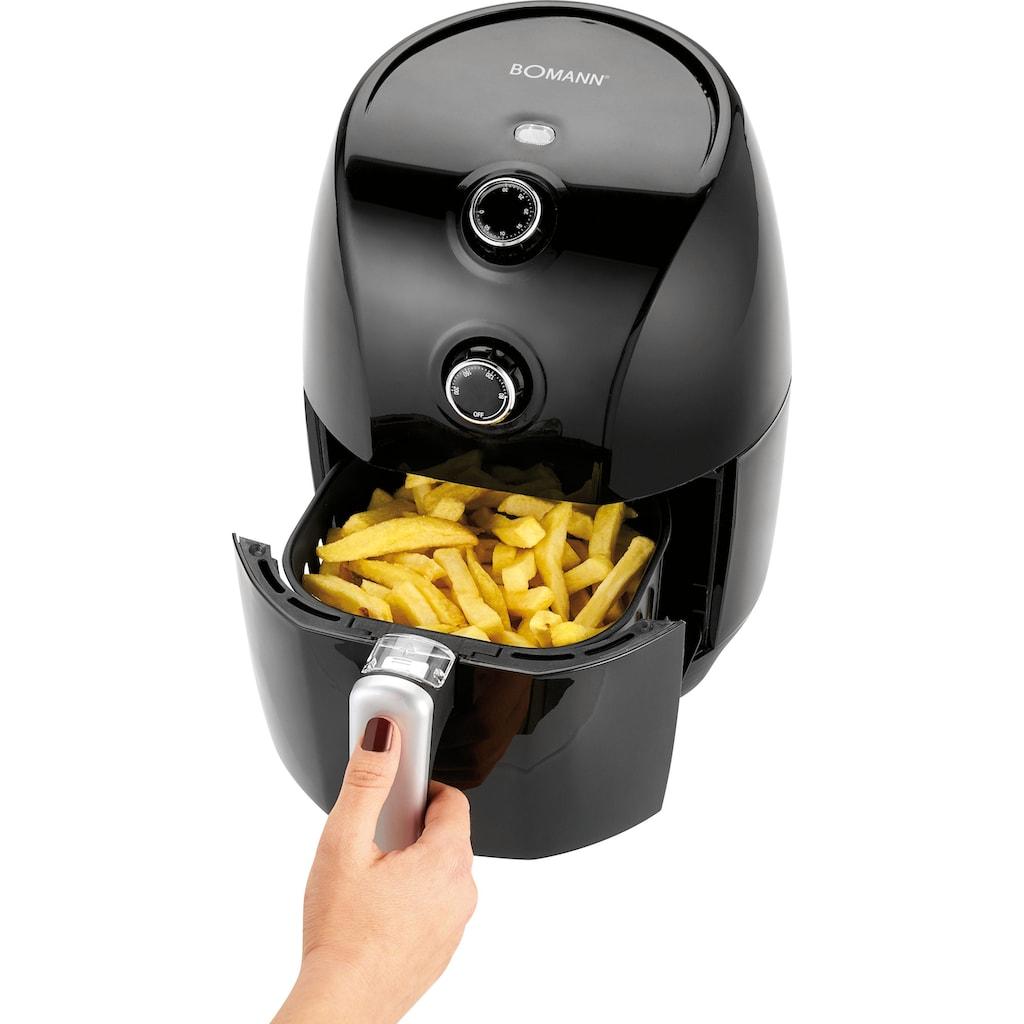 BOMANN Heissluftfritteuse »FR 6001 H CB«, Für max. 300 g Pommes; Zeit- und energiesparende Zubereitung