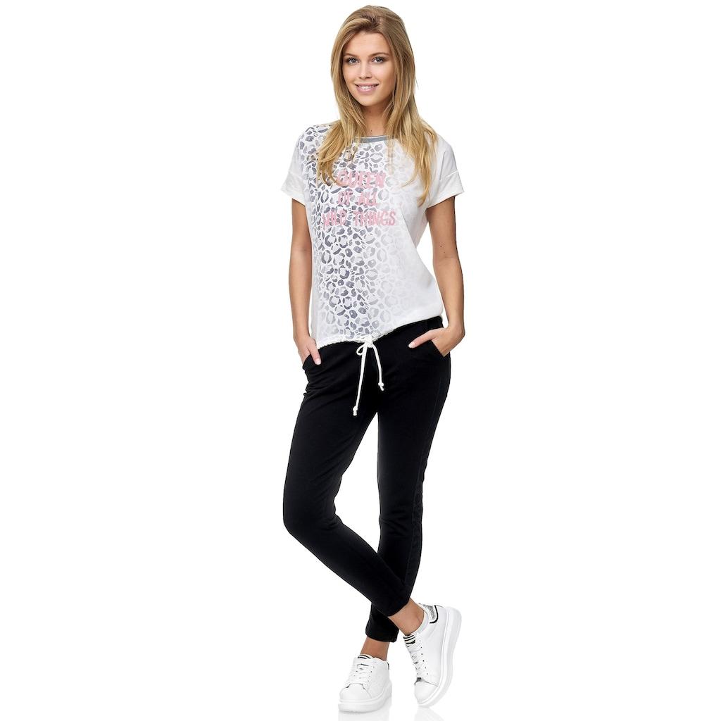 Decay T-Shirt, mit Animalprint und Tunnelzug 3568224