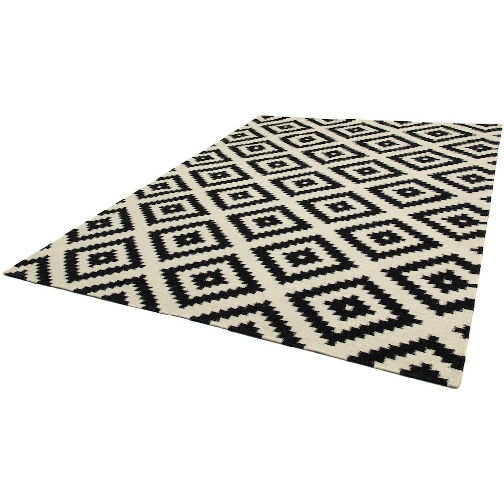 morgenland Wollteppich »Kelim Teppich Masal«, rechteckig, 7 mm Höhe