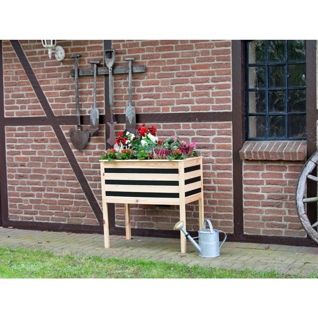 promadino Pflanzkübel, auf Beinen, BxTxH: 88x48x90 cm