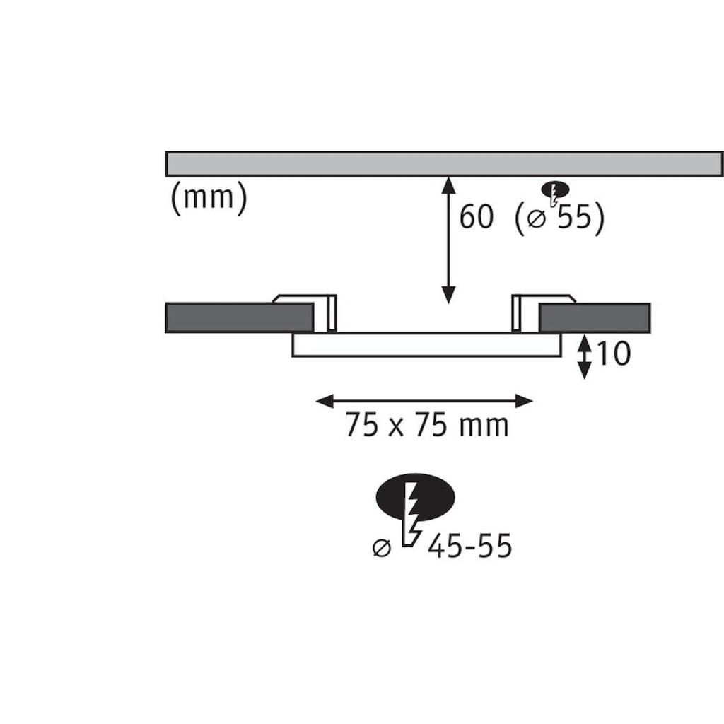 Paulmann,LED Einbauleuchte»Panel Veluna VariFit IP44 eckig 75x75mm 4,5W 3.000K Satin«,